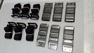 6xTAUTLINER LOAD RESTRAINT BKLS & 6 x BLACK  RAVE/COAMING  STRAPS 6 PK FREE POST