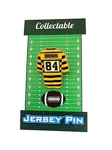 Pittsburgh Steelers Antonio Brown jersey lapel pin-Classic Collectable