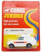 MOC Vintage 1976 Unpunched Corgi Juniors Diecast 9 Range Rover Police Car NEW
