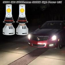 2pcs 6400 Lumen 80W 9004 HB1 LED High Low Beam Dual Beam LED Headlight HID White