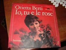 """ORIETTA BERTI    SANREMO'67 """" IO,TU E LE ROSE """"  ITALY"""
