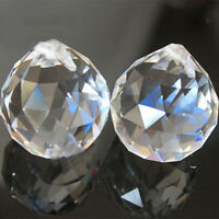 2PCS Clear Crystal Feng Shui Lamp Ball Prism Rainbow Sun Wedding Decor 20mm