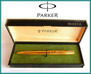 PARKER 45 Gold Filled Ballpoint Pen - New refill - with Box - Made in Argentina