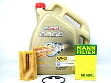 Castrol Edge FST 5W-30 Ll Aceite de Motor 1x 5L + Mann Filtro 7008z Cambio Kit