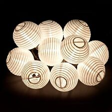 HANGING LIGHT STRING - WHITE CHINESE LANTERNS