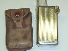 "QUERCIA Flaminaire ""Crillon"" Pocket gaz lighter with leather bag - 1948-France"