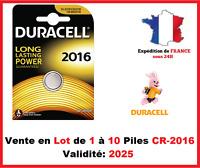Lot de 1 à 10 Pile CR-2016 / DL-2016 DURACELL bouton Lithium 3V DLC 2026