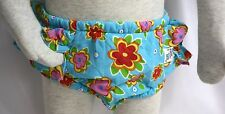 Wee Wave Swim Diaper Blue with Pink Floral Flowers Small 13 to 18 lbs UV 50