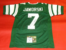 RON JAWORSKI AUTOGRAPHED PHILADELPHIA EAGLES JERSEY AASH ESPN JAWS INSCRIPTION