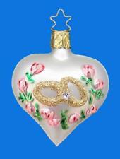 WHITE INGE GLAS GERMAN GLASS HEART GOLD WEDDING ENGAGEMENT RINGS ORNAMENT