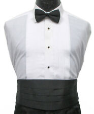 New Men's Black Satin Cummerbund Wedding Prom Mason Cruise *Free Shipping*