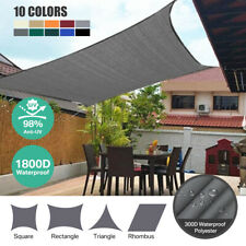 AU Square Triangle Rectangle Outdoor Waterproof Sun Patio Shade Sail Grey Canopy