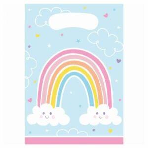 Rainbow Party Bags | Childrens Birthday Christening Treat Loot x 8