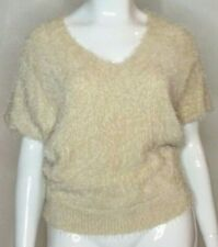 SAMBARA Womens Size 16 Or XL Cream 50's Retro Vintage Fluffy Top Blouse
