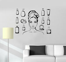 Vinyl Wall Decal Beauty Salon Cosmetics Woman Bathroom Art Stickers (ig5031)