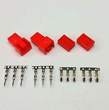 Maschio & Femmina 3 Pin PC FAN LED connettori di alimentazione - 2 di ciascuna-Rosso Inc PIN