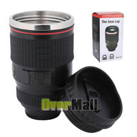 Anti-Slip Camera Lens 24-105mm Self-Stirring Coffee Thermal Stainless Cup Mug