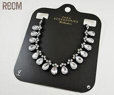 Zara clear rhinestone teardrop necklace