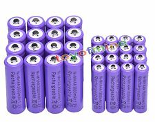 16AA +16 AAA 1.2V 1800mAh 3000mAh NiMH Purple Rechargeable Battery Cell