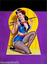 1940s Pin-Up Girl Keyhole Series - Dancer Poster Pin Up Print Art