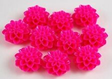 10pcs Pink Flowers Resin Flatbacks Scrapbooking Cabochons Bow Jewelry Making