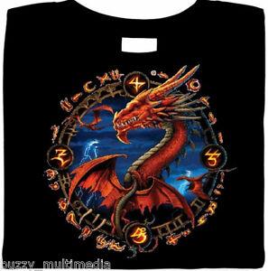 Dragon Shirt, portal, fantasy, fire breathing, biker, gamer, goth, Small - 5X