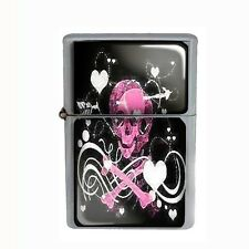 Wind Proof Dual Torch Refillable Butane Lighter Skull Design-010