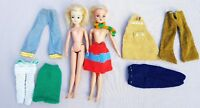 VINTAGE SINDY DOLLS 033055X BLONDE HAIR EARLY 1970s? & CLOTHES BUNDLE JOBLOT