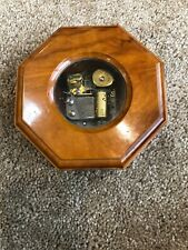 Vintage Italy Reuge Instrument Inlay Wood Swiss Music Box Plays Yesterday