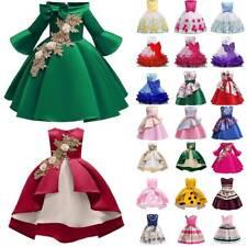 Kids Girls Tutu Dress Princess Formal Party Wedding Bridesmaid Ball Gown Dresses