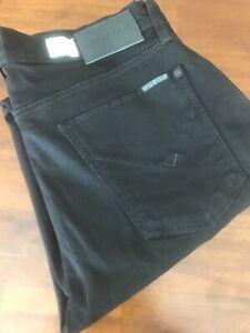 HUDSON  THE SLIM STRAIGHT BLACK JEANS ( 32) $ 198