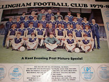 signed autograph UK 1979- 80 Gillingham football club centerfold page poster