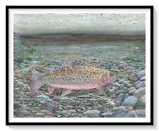 Yellowstone Cutthroat Print, fish, trout, watercolor, fishing, fly fishing, art