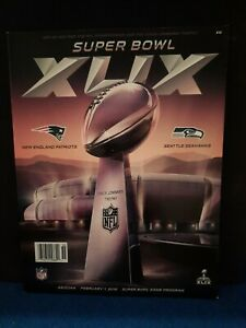 New England Patriots vs Seattle Seahawks Super Bowl Program NO RESERVE AUCTION