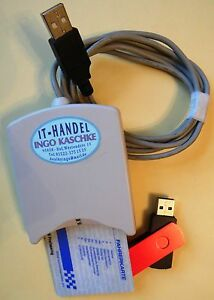 digitale LKW-Fahrerkarte auslesen, Lesegerät + 8-GB-USB-Stick mit Software