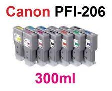 12 Tinte für Canon ImagePROGRAF iPF6400 iPF6450 wie PFI-206 je 300ml Cartridges