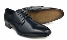 Men Fashion Lace Up Oxfords Dress Shoes Plain Toe Navy Blue
