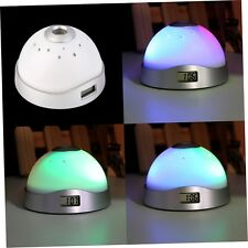 Alarm Clock Digital LED Star Colorful Magic Flash Light Time Projection YF