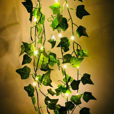 2M Green Leaves Ivy Leaf Garland Fairy LED String Lights Home Garden Decor Lamp