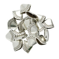 20x Large Tibetan Silver End Caps Beads Tassels Pendant Charms DIY Findings