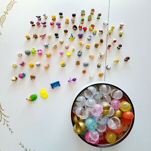 Lot Of 76 Squinkies Mini Rubber Figures + Plastic Balls Disney Shopkins Animals