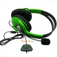 Slim Wired Controller Xbox 360 Headset Headphone with Mic Green