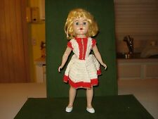 VINTAGE 1950's DOLL.   NICE LOOKING FACE,  MAKER UNKNOWN, 12 INCHES.