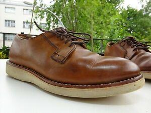 RED WING SHOES 3101 Postman Oxford Herren Schuhe Leder Beige USA Gr.40,5 TOP