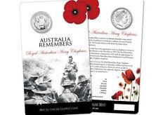 """**2013 Australian """"Army Chaplains"""" 20cent coin  carded **"""