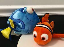 Disney Store Pixar Finding Nemo and Dory Stuffed Animal Plush Blue Orange Fish