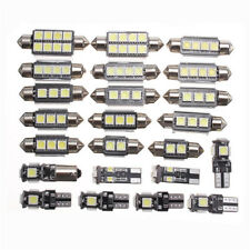 23PCS LED White Car Inside Light Kit Dome Trunk Mirror License Plate Lamp Bulbs~