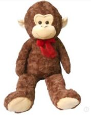 "Huge Extra Large Monkey 🐒 Plush 33"" NWOT SOFT 3P1 Stuffed Animal Toy Red Bow"