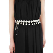 Fashion Beaded Skinny Waist Chain Belts For Women Thin Waist Belt Waistband