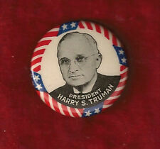 "PRESIDENT HARRY S. TRUMAN INAUGURAL CAMPAIGN PINBACK 1 1/4"" CELLULOID"